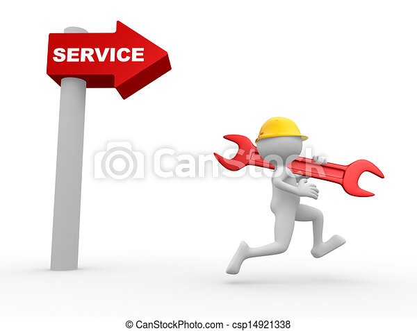richtingwijzer, service., woord - csp14921338