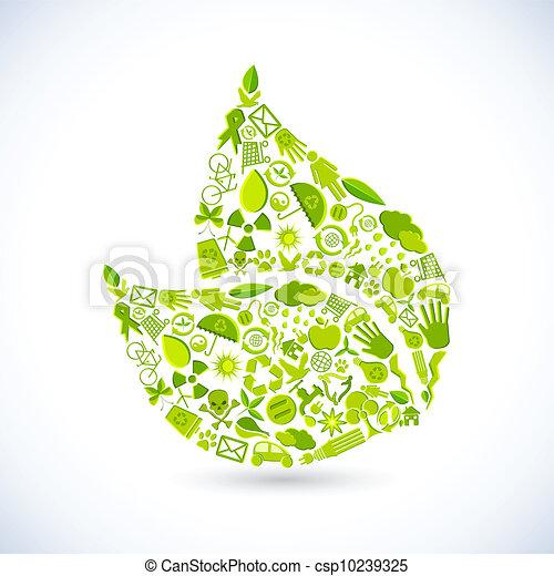 riciclare, foglia - csp10239325