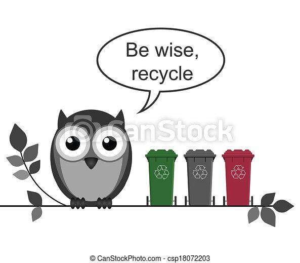 riciclare, messaggio - csp18072203