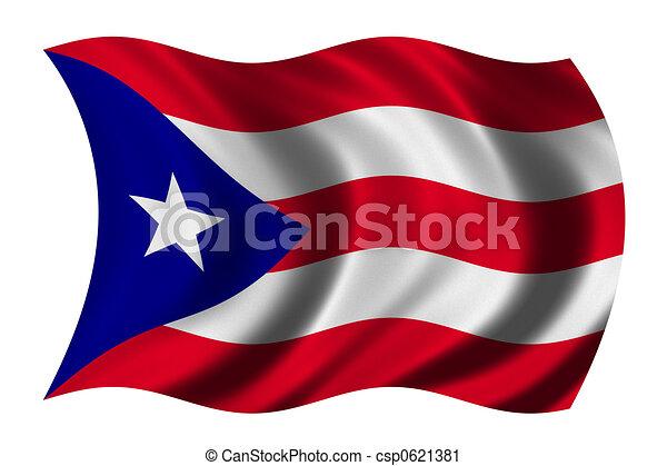 rico bandera puerto recorte ondulación rico bandera