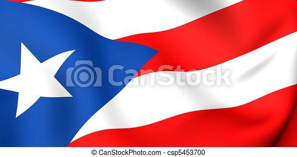 rico bandera puerto arriba bandera rico cierre puerto 3d