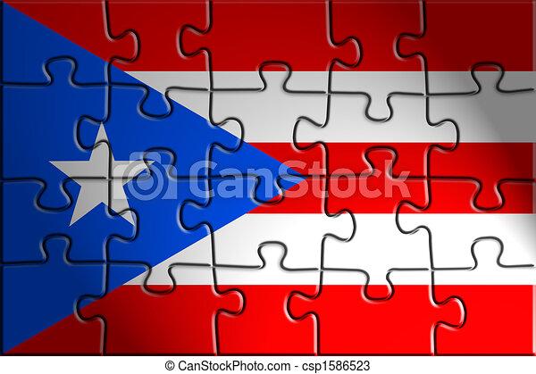 rico bandera puerto país nacional ilustración bandera rico