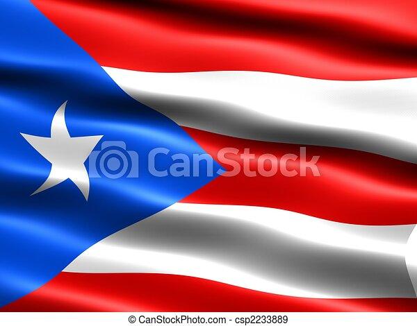 rico bandera puerto sedoso apariencia bandera ilustración