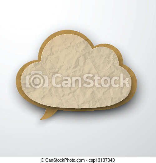 ridé, cloud., papier, vieux - csp13137340