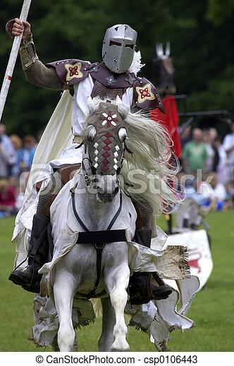 riddere, jousting - csp0106443