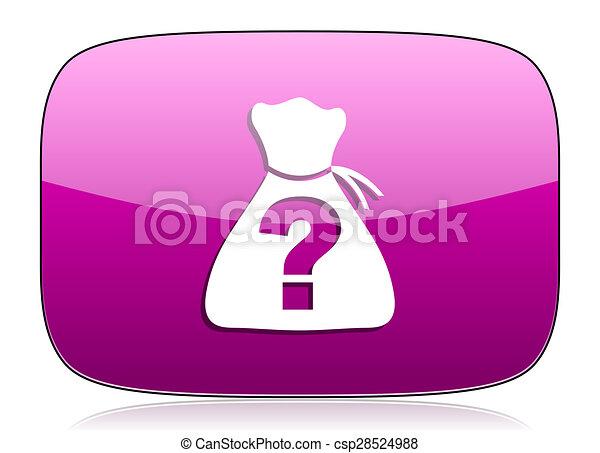 riddle violet icon - csp28524988