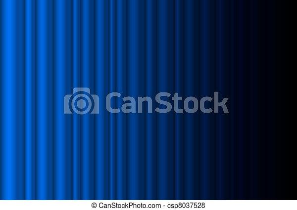rideau, étape, bleu, sombre, fragment - csp8037528
