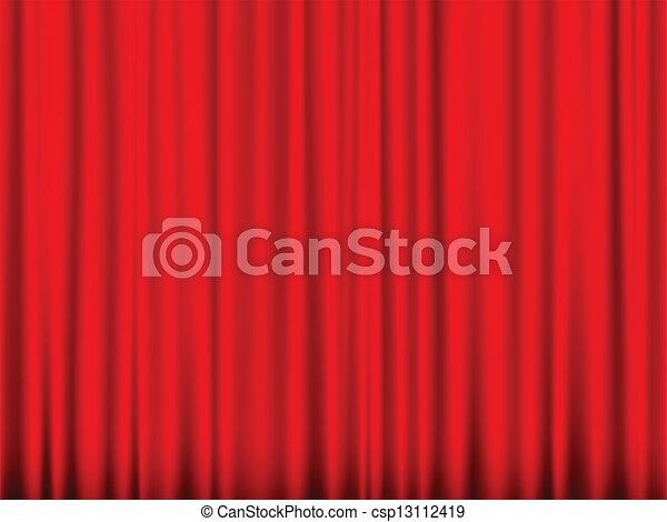 rideau, rouges - csp13112419