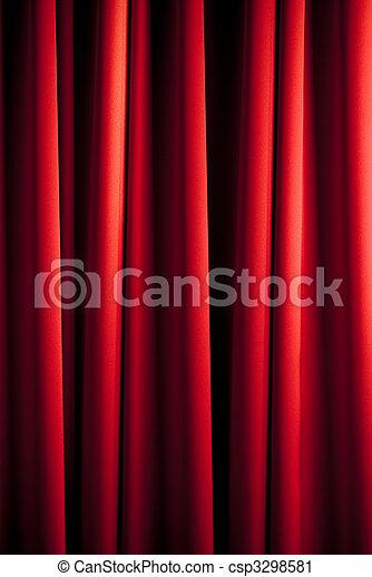 rideau, rouges, modèle