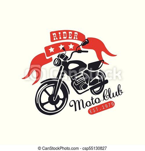 Rider Moto Club Logo Est 1979 Design Element For Motor Or Biker