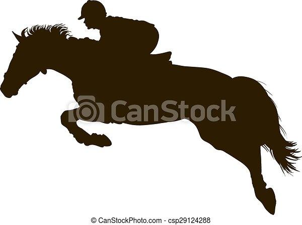 Rider on the  horse - csp29124288
