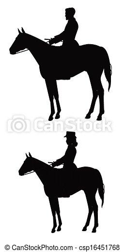 riders on horse - csp16451768