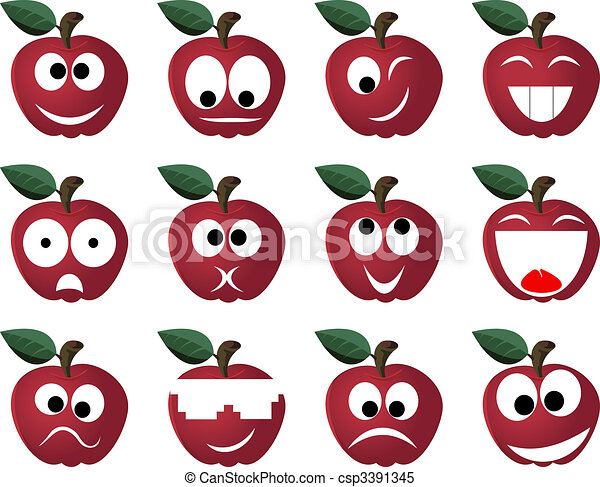 Ridiculous expressions of the person of vegetables and fruit - csp3391345