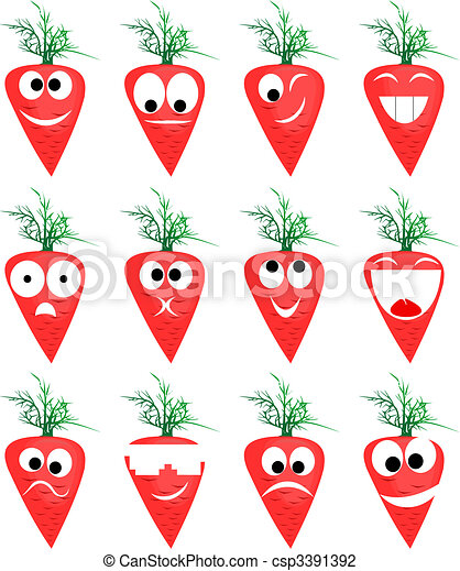 Ridiculous expressions of the person of vegetables and fruit - csp3391392