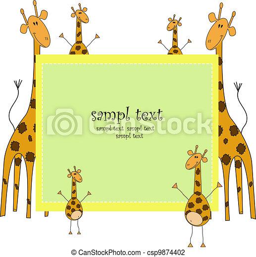 Ridiculous giraffes - csp9874402