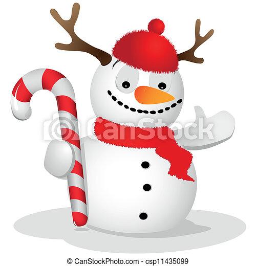 Ridiculous snowman - csp11435099