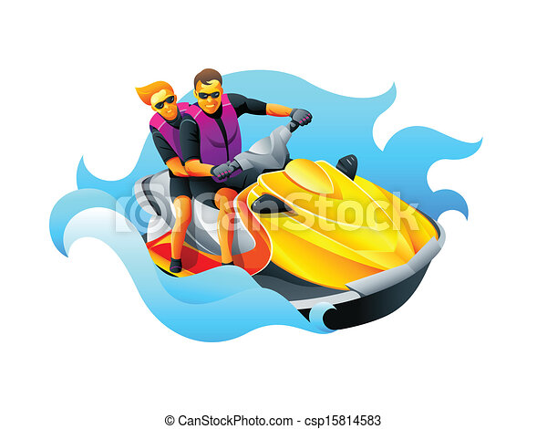 Riding ski jet - csp15814583