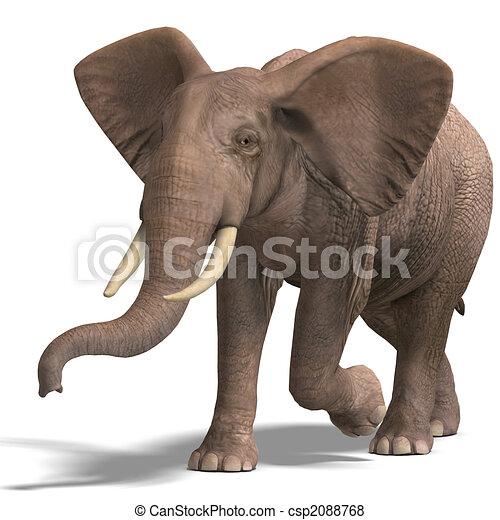 riesig, elefant - csp2088768