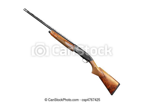 rifle isolated on white - csp4767425