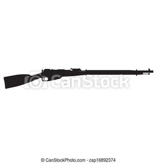 rifle silhouette - csp16892374