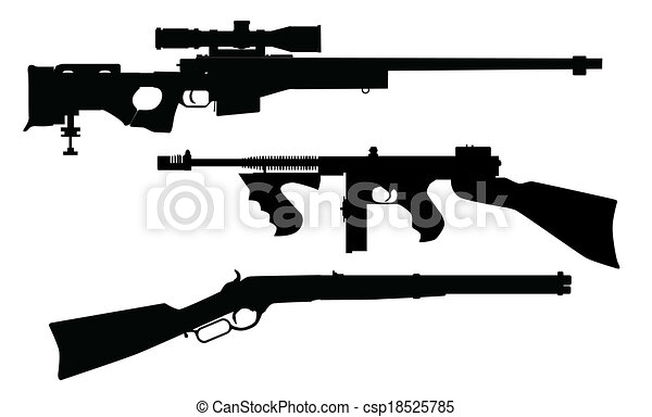 Rifle Silhouettes - csp18525785