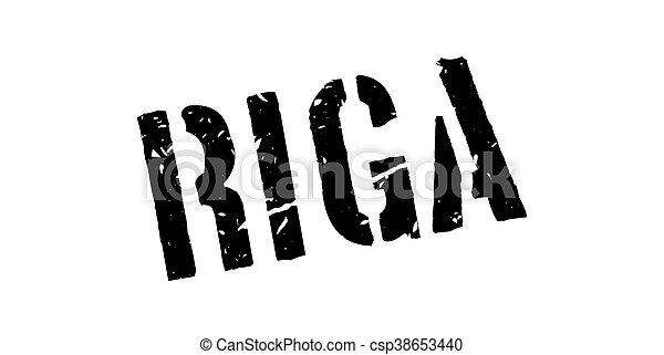Riga rubber stamp - csp38653440