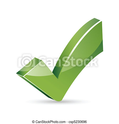 Illustration Of Right Sign On Isolated Background Clip Art Vector