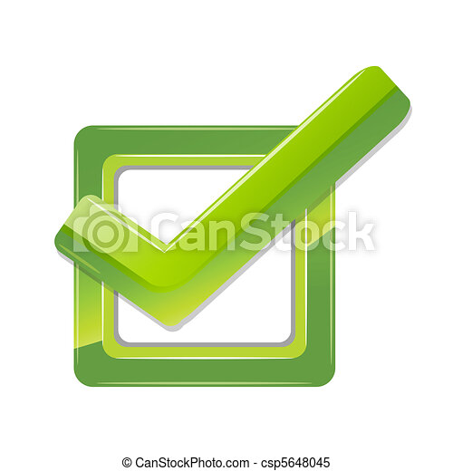 Illustration Of Right Sign On White Background Clipart Vector
