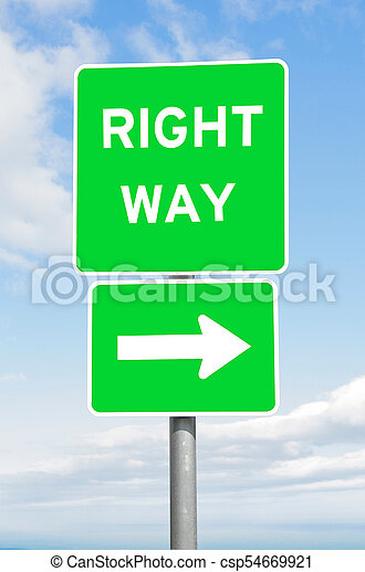right way direction signpost sky right way direction signpost