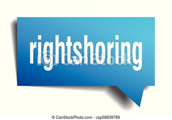 rightshoring blue 3d speech bubble - csp56839789
