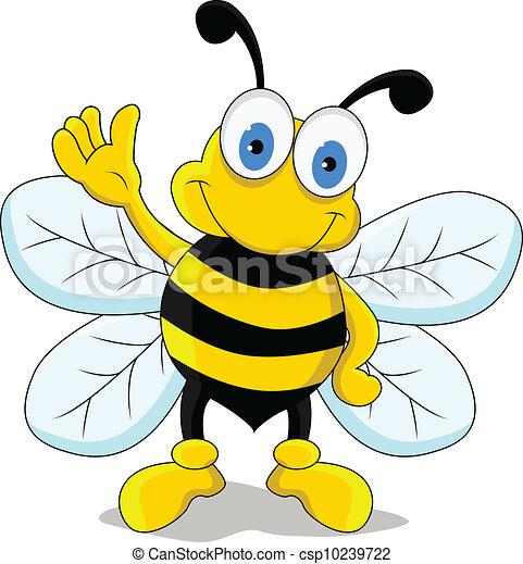 Favori Illustration Vecteur de rigolote, caractère, dessin animé, abeille  FO46