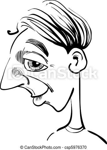 Caricature Homme rigolote, caricature, homme. rigolote, caricature, illustration, homme.