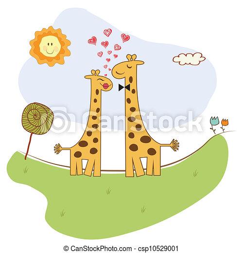Rigolote couple girafe amour clipart vectoriel - Clipart amour ...