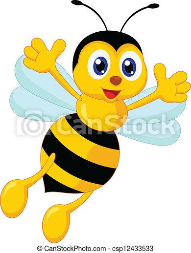 Bien-aimé Clipart Vecteur de rigolote, dessin animé, abeille - rigolote  PA68