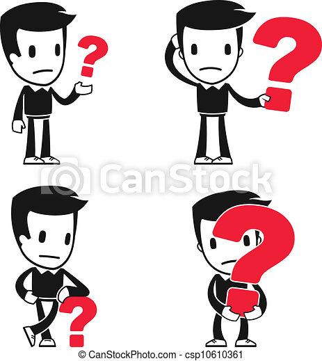 rigolote, dessin animé, assistant, homme - csp10610361