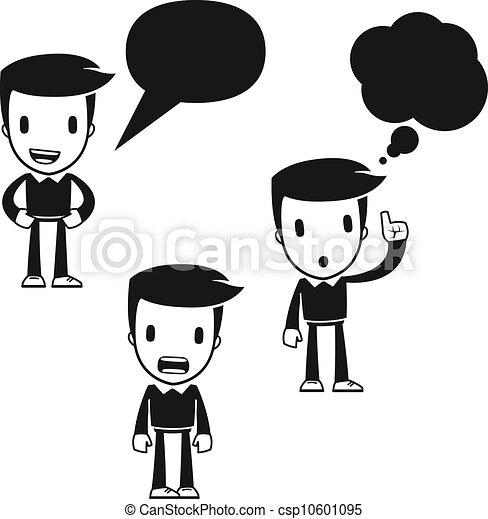 rigolote, dessin animé, assistant, homme - csp10601095