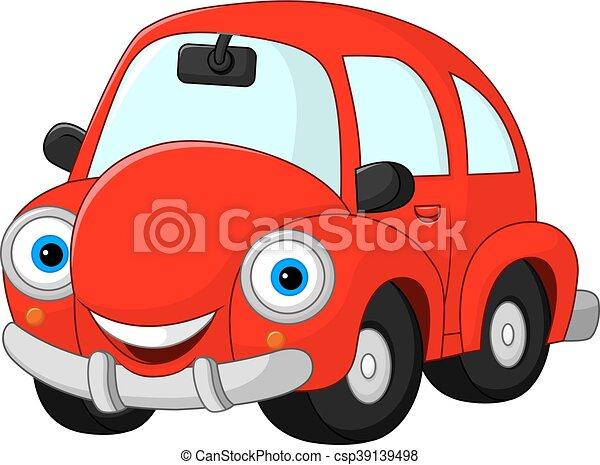 Rigolote dessin anim voiture rouge voiture dr le - Image voiture drole ...
