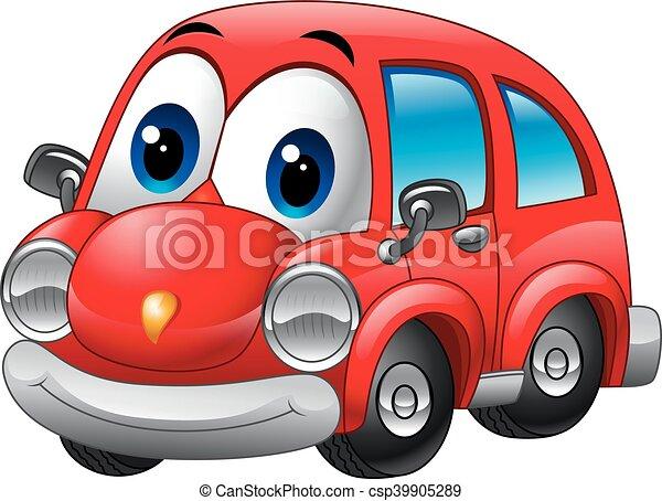 rigolote dessin anim voiture rouge rigolote rouges dessin anim illustration voiture. Black Bedroom Furniture Sets. Home Design Ideas