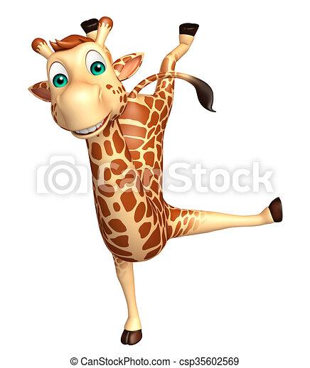 Dessin Girafe Rigolote rigolote, girafe, caractère, dessin animé. rigolote, rendu