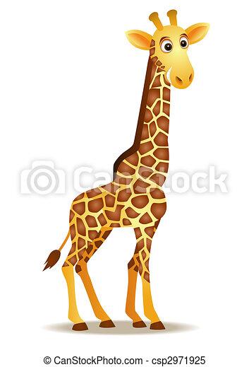 rigolote, girafe, dessin animé - csp2971925