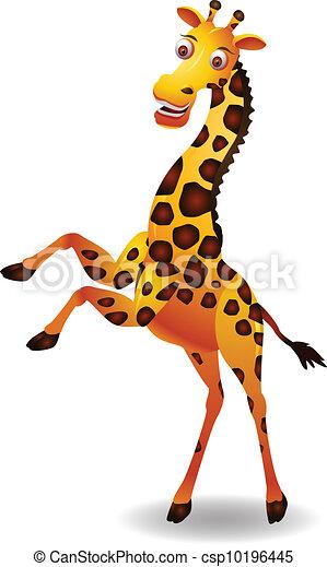 Rigolote girafe dessin anim vecteur girafe dessin - Girafe rigolote ...