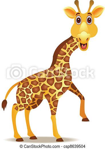 Dessin Girafe Rigolote rigolote, girafe, dessin animé, illustration.