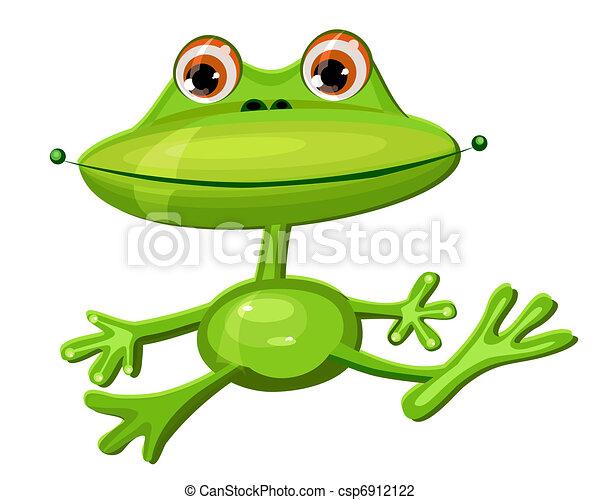 Rigolote grenouille verte - Dessin de grenouille verte ...