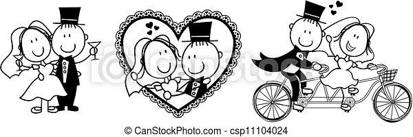 rigolote, ivite, mariage - csp11104024
