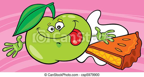 Rigolote lait tarte aux pommes rigolote pomme verte - Dessin tarte aux pommes ...