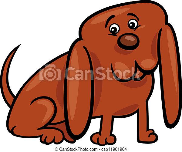 rigolote, peu, chien, illustration, dessin animé - csp11901964