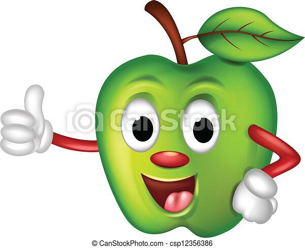Rigolote pomme verte dessin anim rigolote pomme haut - Dessin pomme apple ...