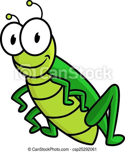 Rigolote sauterelle vert dessin anim caract re - Sauterelle dessin ...