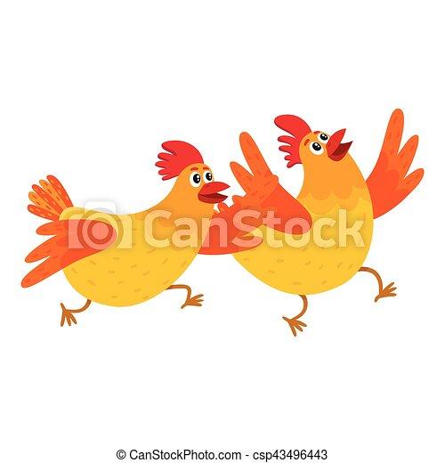 Hervorragend Vecteurs EPS de rigolote, somewhere, poulets, dépêcher, deux  DC76