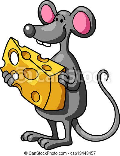 rigolote, souris, dessin animé, fromage - csp13443457